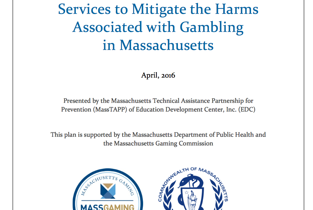 Statewide Strategic Plan Released: Services to Mitigate the Harms Associated with Gambling in Massachusetts