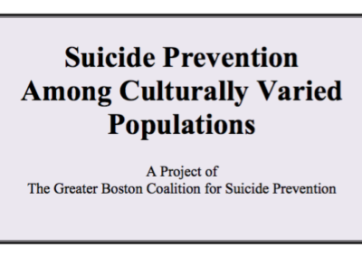 Suicide Prevention Among Culturally Diverse Populations