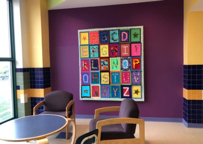 Alphabet quilt mosaic