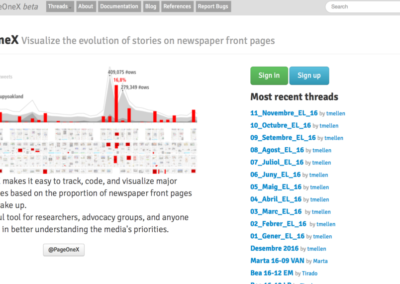 PageOneX – visualizing front-page news coverage